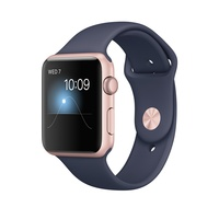 "APPLE WATCH 42MM ROSE GOLD ALU CASE MIDNIGHT BLUE SERIES 1 ""AUSLUCK"""
