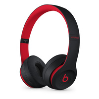 "BEATS SOLO 3 WIRELESS BY DR.DRE DEFIANT BLACK - Red MRQC2PA/A BRAND NEW  ""AUSLUCK"""