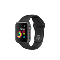 "APPLE WATCH SPORT SERIES 1 38MM SPACE GREY ALUMINIUM CASE BLACK MP022X/A ""AUSLUCK"""