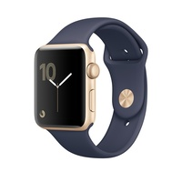 "APPLE WATCH SPORT SERIES 2 42MM Y/GOLD ALUMINIUM CASE MIDNIGHT BLUE ""AUSLUCK"""
