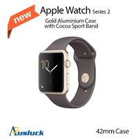 "APPLE WATCH SPORT SERIES 2 42MM GOLD ALUMINIUM CASE COCOA MNPN2X/A ""AUSLUCK"""