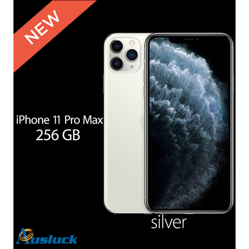 "APPLE iPHONE 11 PRO MAX 256GB SILVER MWHK2X/A BRAND NEW ""AUSLUCK"""