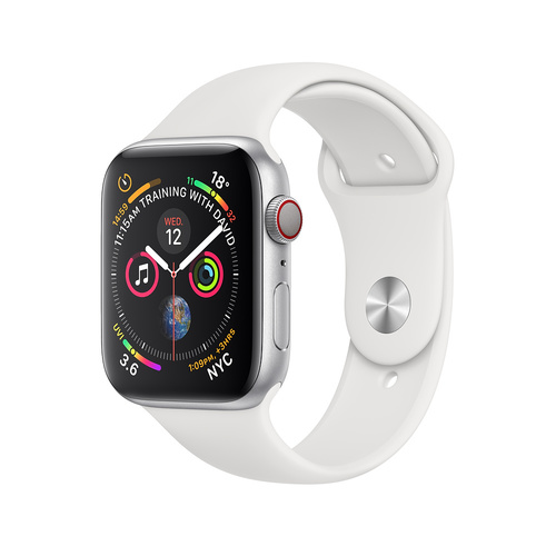 "APPLE WATCH 40MM SILVER ALU WHITE SP BAND MTVA2X/A [SERIES 4] GPS + CELLULAR ""AUSLUCK"""